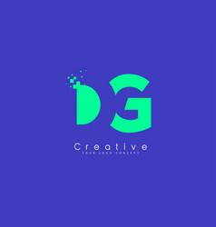 Dg letter logo design with negative space concept vector