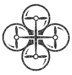 Drone Screws Grainy Texture Icon vector image vector image