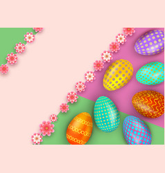 easter greeting card template with colorful vector image