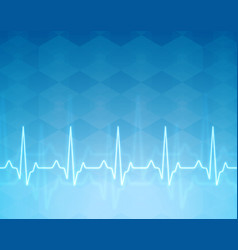 ecg heartbeat monitor cardiogram heart pulse line vector image