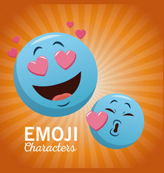 emoji chat characters vector image