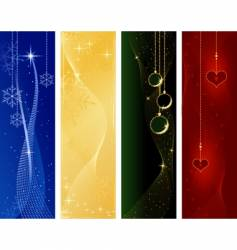 festive Christmas winter banners vector image
