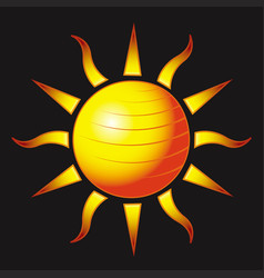 fitness sun vector image