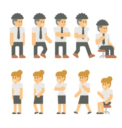 Flat design business people set vector