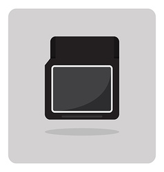 Flat icon compact memory card vector