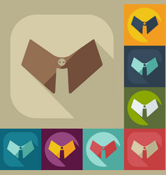 Flat modern design with shadow icon male collar vector
