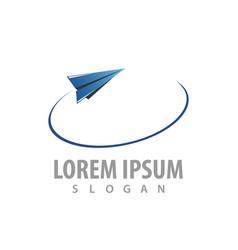 flying paper plane logo concept design symbol vector image