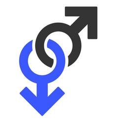 Gay symbol flat icon vector