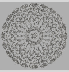Grey oriental geometric ornament vector
