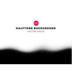 Halftone dots background bottom frame vector
