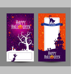 halloween holidays design templates with place vector image
