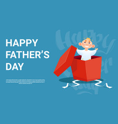 happy father day family holiday small son in vector image
