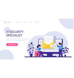 It security specialist digital data protection vector