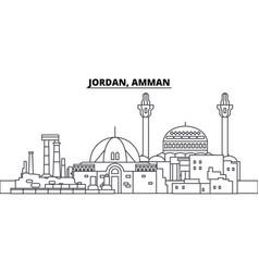 Jordan amman line skyline vector