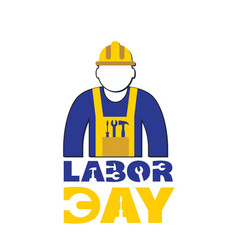 labor day man worker white background image vector image