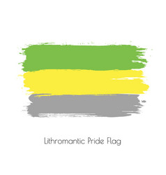 lithromantic lgbt watercolor flag vector image