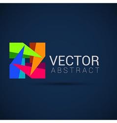 logo shape set 3d style element design abstract vector image