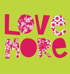 love more vector image