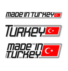 Made in turkey vector