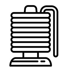 Magnetic coil icon outline style vector