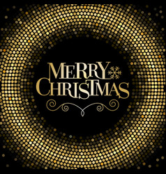 Merry christmas letters with glitter background vector