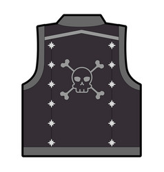 Motorcyclist vest with skull icon vector