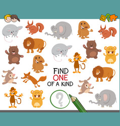 One of a kind activity for kids vector