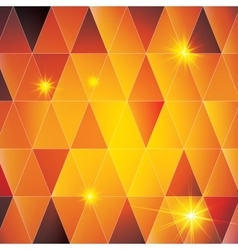Orange triangle abstract pattern vector