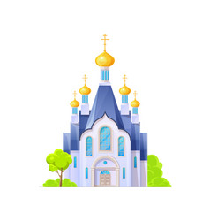 orthodox church or temple cathedral christianity vector image