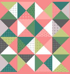 Patchwork style seamless pattern vector