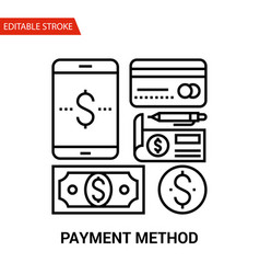 Payment method icon thin line vector