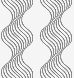 Perforated paper with wavy stripes vector image