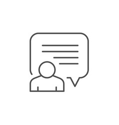 person quote line outline icon vector image