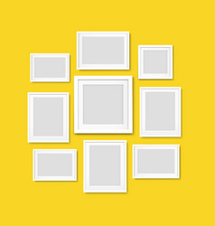 picture frame isolated yellow background vector image