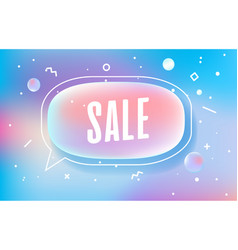 Sale in design banner template for web vector