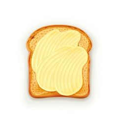 sandwich with butter vector image