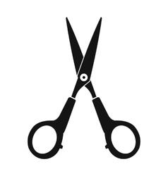 Scissors black simple icon vector image