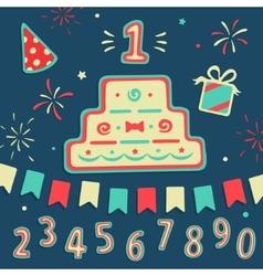 Set Elements Birthday vector