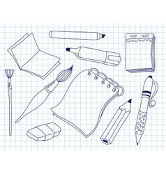 Set of office tools vector image