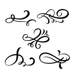 set of vintage line elegant dividers and vector image