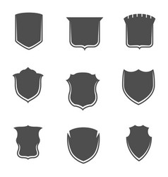 Shields shapes collection on white background vector