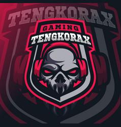 skull mascot logo esport vector image
