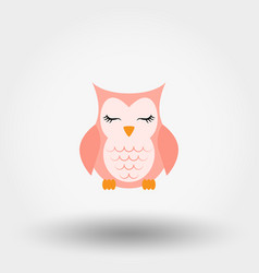 sleeping owl icon flat vector image