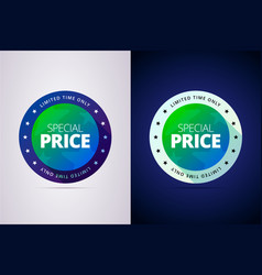 special price label vector image