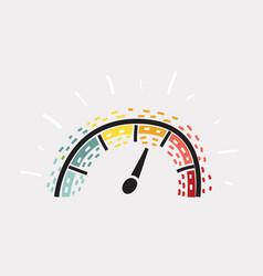 speed measure sensor symbol vector image