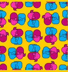 Swinger party seamless pattern guy and girl sex vector