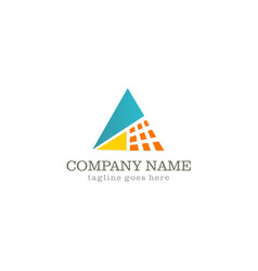 Triangle technology logo vector