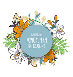 tropical floral bunch 4 vector image