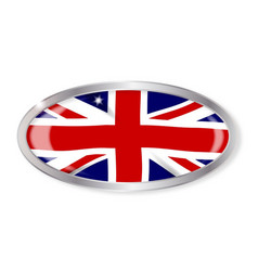 Union jack oval button vector
