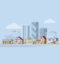 urban city landscape colorful flat vector image